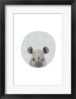 Framed Baby Rhino