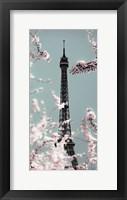 Framed Spring Eiffel Pastel