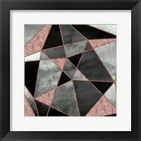 Framed Blush Geo Abstract 1