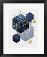Framed Navy Gold Geo 2