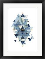 Framed Navy Gold   Geometric
