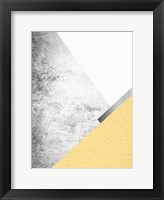 Framed Yellow and Grey Mountains 1