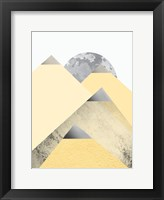 Framed Yellow and Grey Mountains 2
