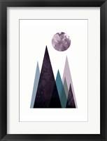 Framed Scandi Mountains Blue 2