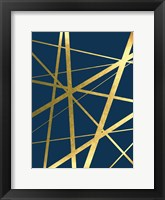 Framed Metallic Lines Navy 1