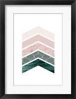 Framed Evergreen Blush Geo 1