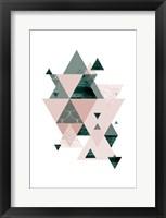 Framed Evergreen Blush Geo 2