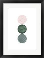 Framed Evergreen Blush Geo 3
