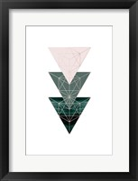 Framed Evergreen Blush Geo 4