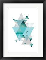 Framed Love Joy Geo Turquoise 2