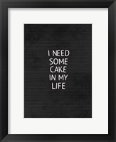 Framed Cake In My Life Black