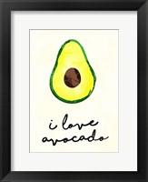 Framed I Love Avocado