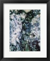 Framed Light Blue Smog Abstract