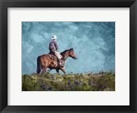 Framed Cowboy Enjoys The Outlooktif