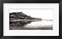 Framed Black And White Beach