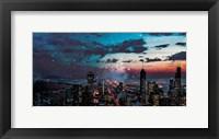Framed Chicago Skyline Hues