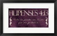 Framed Filipenses Todo Purp