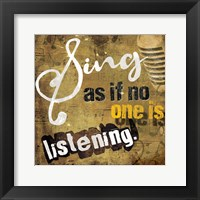 Framed Listen