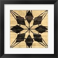 Framed Black Wood Star