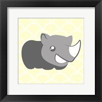 Framed Rhino Yellow