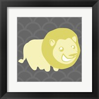 Framed Lion Yellow