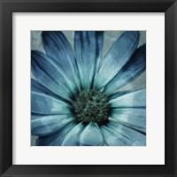 Framed Uplifting Blue Flower Mate