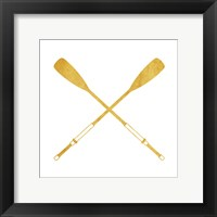 Framed Gold Oars