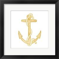 Framed Gold Anchor