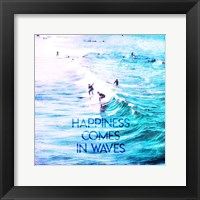 Framed Happiness Comes In Waves