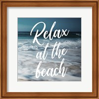 Framed Relax At The Beach