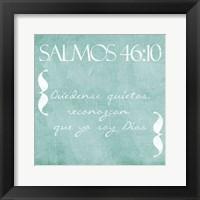 Framed Salmos Quedense Mint