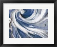 Framed Indigo Swirl