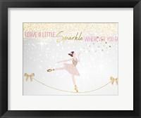 Framed Leave a LIttle Sparkle v1