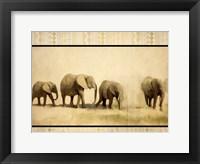 Framed Tribal Elephants