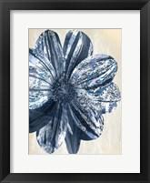 Framed Indigo Marble Bloom 1