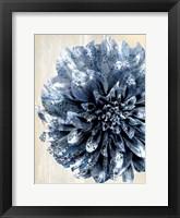 Framed Indigo Marble Bloom 2