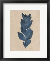 Framed Blue Leaf Print 3