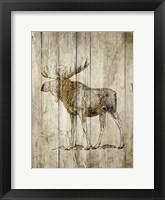 Framed Standing Moose
