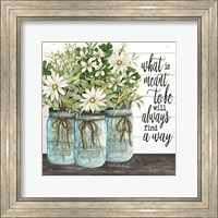 Framed Blue Jars - What is Meant to Be