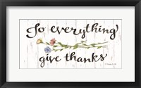 Framed To Everything Give Thanks