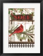 Framed Noel Cardinal