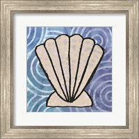 Framed Whimsy Coastal Clam Shell