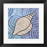 Framed Whimsy Coastal Conch Shell