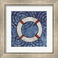 Framed Whimsy Coastal Ring Buoy