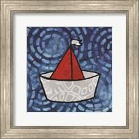 Framed Whimsy Coastal Sailboat