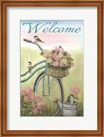 Framed Old Bike Welcome