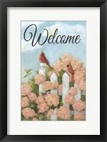 Framed Cardinal Pair Welcome