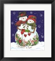 Framed Snow Couple