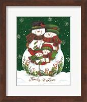 Framed Snow Family II