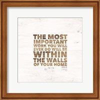 Framed Within the Walls of Your Home